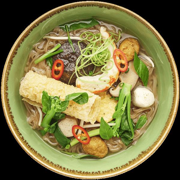 Vietnamese PHO VEGAN, BROWN RICE NOODLE by NamNam Jakarta